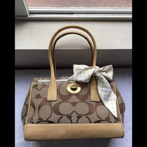 Coach Shoulder Bag with attached Silk Bow